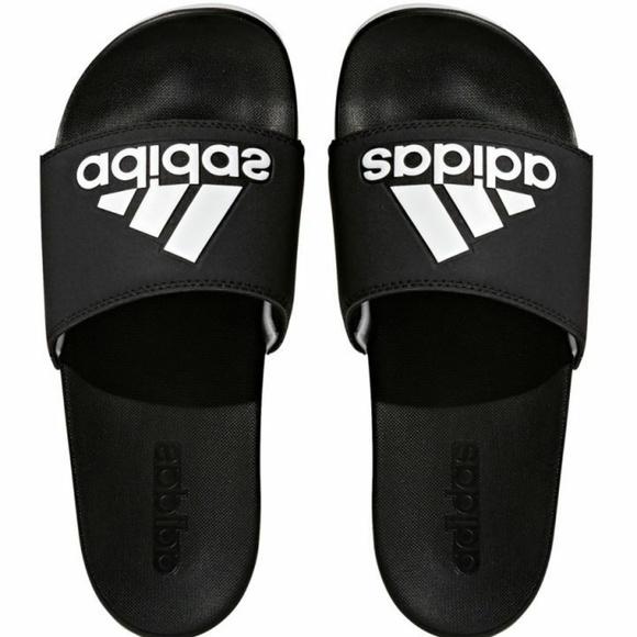 fc96740fa0282 Adidas Men's Adilette Comfort Slide Sandal Black/W Boutique